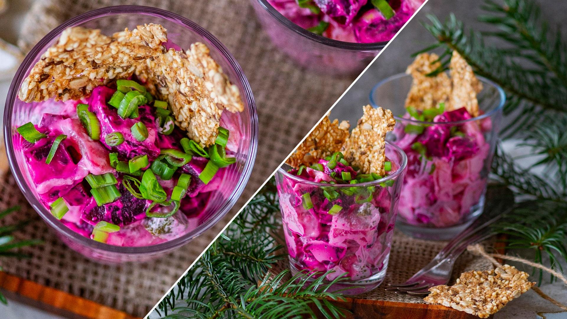 Сливочный салат из сельди